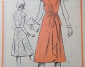 Designer 70s Wrap Dress Pattern 34 bust Frances Henaghan M416 size 12