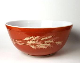 Pyrex Wheat Mixing Bowl Medium Autumn Harvest