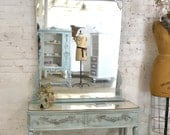 Painted Cottage Chic Shabby Romantic Vanity VAN741