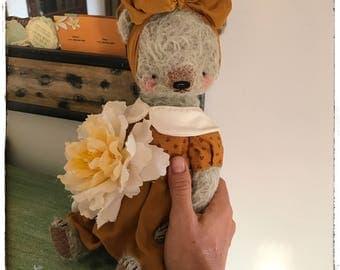 Easter Sale 12 inch Artist Handmade Mohair Teddy Bear Valerie by Sasha Pokrass