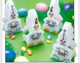 Mini Easter Baskets Pattern - Plastic Canvas - Bunnies and Chicks - Pattern  Download