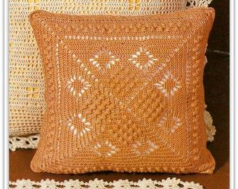 Popcorn Pillow Crochet Pattern - 14 Inches Square - PDF A1213998