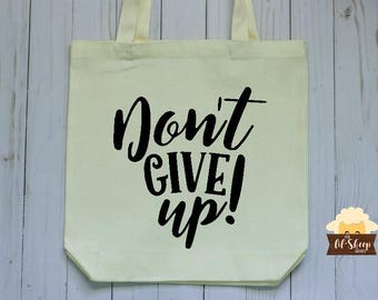 Tote Bag/Don't Give Up/JW Gift/Personalized Tote Bag/District Convention Gift