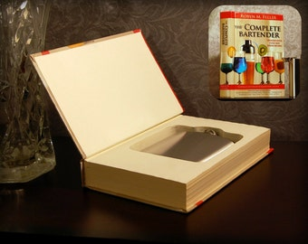 Hollow Book Safe & Flask (The Complete Bartender)