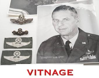 Vietnam ERA Command Pilots Wing USAF U.S. Air Force Photos USAF K2B Cotton Flight Suit Wings