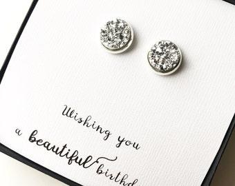 Beautiful Birthday Druzy Earrings