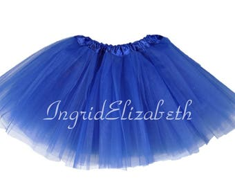 Royal Blue Tutu Ballet 4-Layer Skirt / FAST SHIPPING / Child Toddler Costume, Birthday Tutus, Dress Up tutus, Dance tutu, Princess tutu