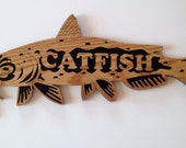 RESERVED for Linda H.  Catfish scroll saw cutting