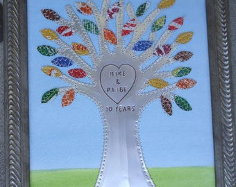 10 year Anniversary - Tin Anniversary Gift - TREE  OF  LIFE -  Wedding Gift - Baby Shower - Nursery