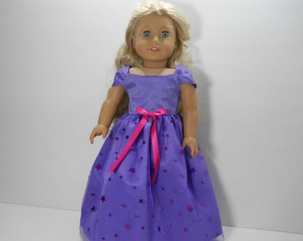 18 inch doll clothes,  Lavender Fancy Dress, 02-1828