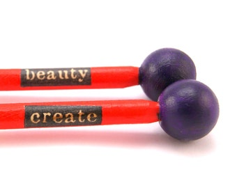 Create Beauty - Design your own Knitting Needles US 11 - 8mm - Made to Order