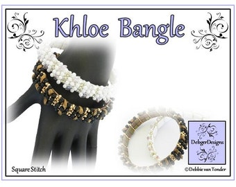 Tila Beading Pattern, Tutorial, Bangle - KHLOE
