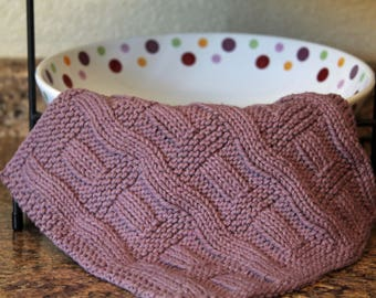 Knitting Pattern, Knitted dishcloth, Knit Dishcloth Pattern, Curvy in all The right Places
