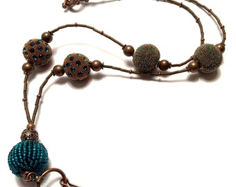 Teal and Antique Copper Lanyard ID Badge: Gift for Teachers, Nurses, Government Workers