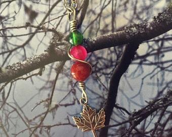 SALE! Autumn Maple Leaf Pendant Necklace