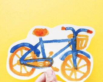 SALE Bike Big Individual WATERPROOF Sticker - Vinyl Stickers -Hand Drawn Sticker - Handmade Sticker