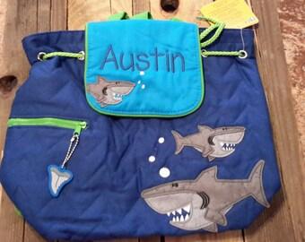 Backpack//Stephen Joseph backpack//quilted backpack//personalized backpack//preschool backpack//boy birthday gift//diaper bag