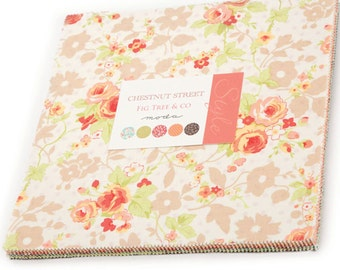 """Chestnut Street Layer Cake by Fig Tree Quilts for Moda Fabrics 20270LC 42 10"""" Fabric Squares"""