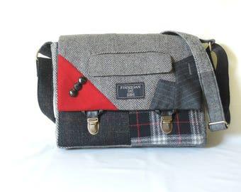 Messenger Bag mens iPad Messsenger bag iPad Sleeve iPad Case Womens messenger Bag Eco Friendly Recycled Suit Coat Cross Body Bag