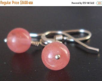 "15% OFF Cherry ""Quartz"" Glass Earrings Argentium Sterling Silver"