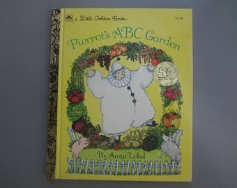 Vintage Little Golden Book:  Pierrot's ABC Garden