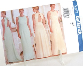Bridesmaids Dress Sewing Pattern Butterick 5367, Size 12, 14, 16, Bust 34, 36, 38 Inches