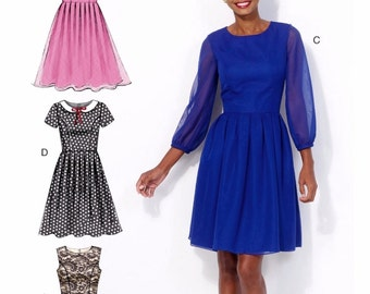 Ladies Dress Pattern, Classic Dress Pattern, Special Occasion Dress Pattern, McCall's Sewing Pattern 7083