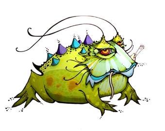 Bad Froggie - Print