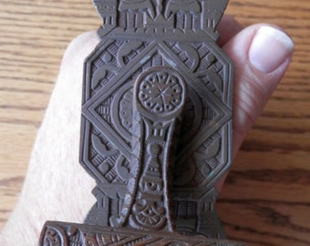 antique mechanical door bell lever architectural salvage cast bronze