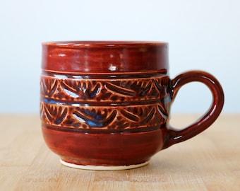 Hand carved Vampy Sweater mug- Ready to ship