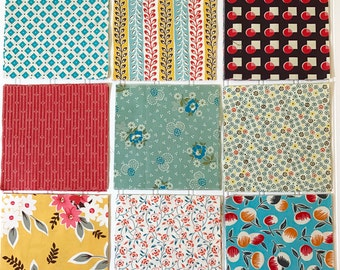 ORCHARD, 54 Assorted 6 inch Fabric Squares. All Denyse Schmidt fabrics
