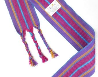 Vintage 80s Belt * Wide Woven Sash * 1980s Belt * Woven Belt