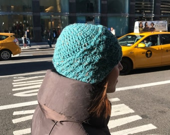 Shell Hat in Green
