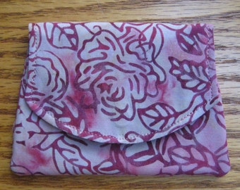 Roses Small Batik Wallet