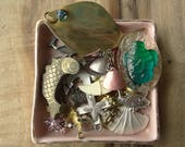 Vintage Jewelry Destash, Sea Themed Vintage Jewelry Collection, Charms, Nautical, Fish, Shark Tooth, D36