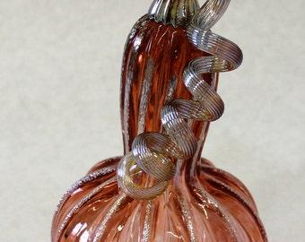 Hand Blown Glass Art Sculpture  Pumpkin Oneil 7354 apricot