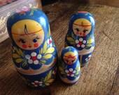 Vintage Nesting Moscow dolls.Russian Matryoshka.Originall dolls.
