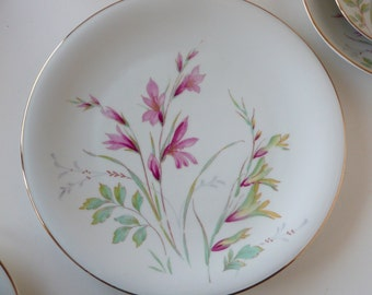 Edelstein Bavaria China Alamedo Salad Plate Mid Century Germany Floral Spray