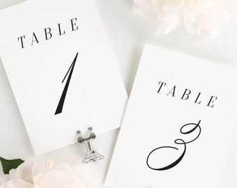 Alison Table Numbers - 5x7""