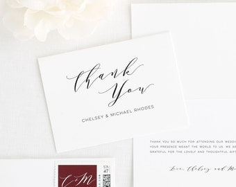 Dramatic Romance Thank You Cards