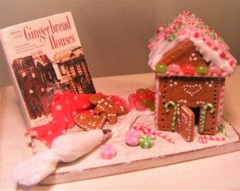 12th Scale Doll House Decorating Christmas Gingerbread Prep Board