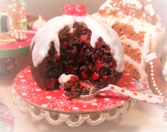 12th Scale Doll House Traditional Festive Christmas Pudding