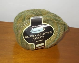 Bellezza Collection Cosetta Wool Blend Yarn Variegated Greens