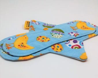"""9"""" Reusable Menstrual Pad,Cotton Panty Liner,Incontinence Pad, Exposed Core Pad,Light To Moderate Absorbency,Cotton Top With PUL Backing"""