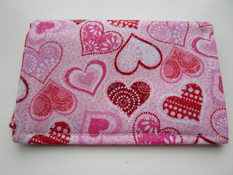 Valentine Hearts Credit Card Wallet, Vera Bradley Inspired Wallet ...
