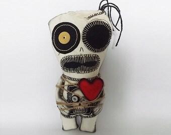 Valentines Voodoo Doll Gothic Doll Zombie Horror Art
