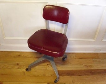 Vintage 1950's  Cole Steel  Office Chair