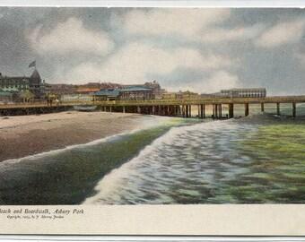 The Beach & Boardwalk Asbury Park New Jersey 1907c postcard