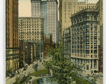 Bowling Green New York City NYC NY 1910s postcard