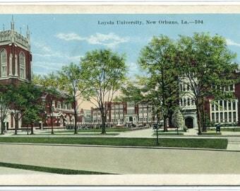 Loyola University New Orleans Louisiana 1920s postcard